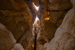 Inside the Al Qarah Caves, Al Hasa Oasis, Eastern Province of Saudi Arabia