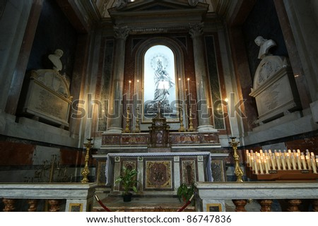 inside the cathedral of Palermo is an architectural complex in Palermo, Sicily, southern Italy