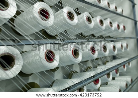 Inside the cotton mill