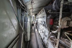 Inside the engine room of a diesel locomotive