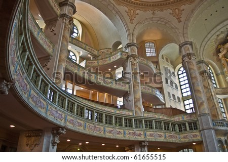 "Inside the ""Frauenkirche"" womens church of Dresden, Germany"