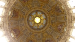 Inside the historical Berliner Dom Cathedral in Berlin Germany