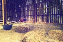 Inside the old barn