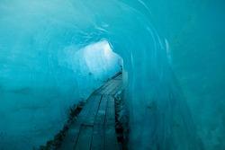 Inside the Rhone Glacier, Switzerland