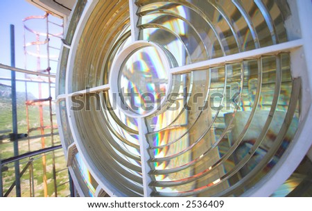 Inside the Slangkop Lighthouse at Kommetjie, Western Cape. The Tallest Lighthouse in South Africa - Shallow DOF