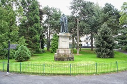 Inside the Stranmillis Rd gate of Belfast's Botanic Gardens is a statue of Belfast-born William Thomson (Lord Kelvin) who helped lay the foundation of modern physics and who invented the Kelvin scale