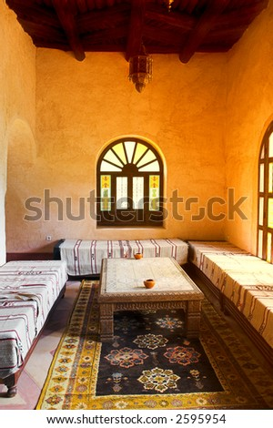 Inside traditional luxury Arab house