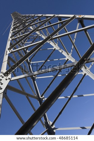 Inside view of a high-voltage electric pylon