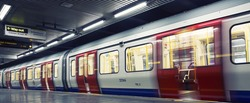 Inside view of London underground