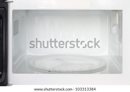 Inside view of microwave oven