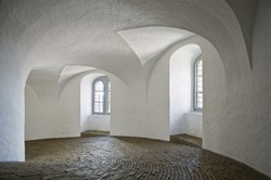 Inside view of the Round Tower in Copenhagen, Denmark