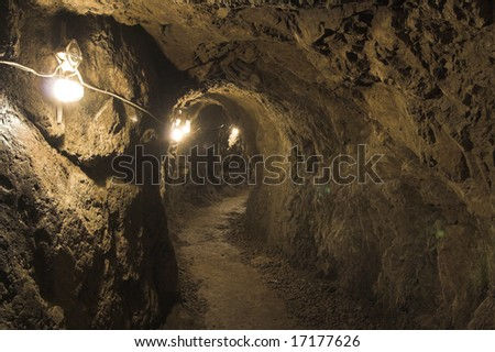 inside view the old mine(mine of gold - zloty stok - poland)