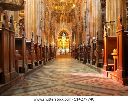 Inside Votive Church - Vienna, Austria