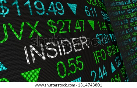 Insider Stock Market Illegal Trading 3d Illustration