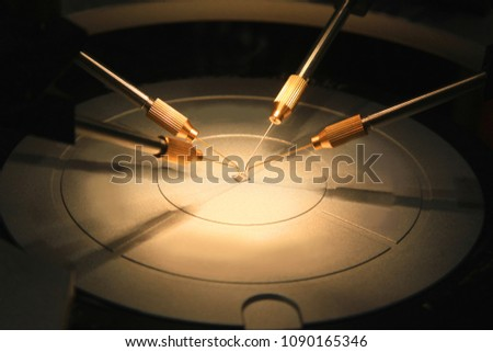 Inspection of electronic components after soldering conductors #1090165346