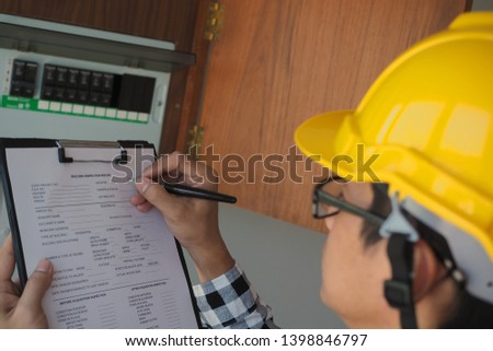 Inspectors are inspecting the home lighting cabinet.