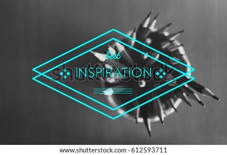 Inspiration Ideas Creativity Imagination Badge Banner