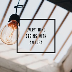 Inspiration motivation quote about thinking