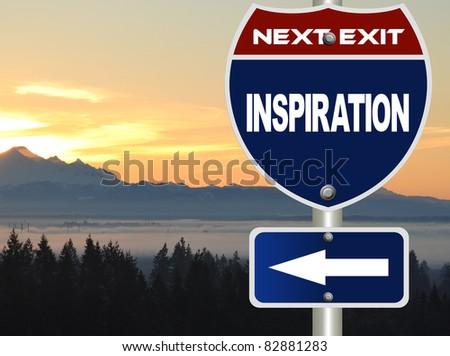 Inspiration road sign