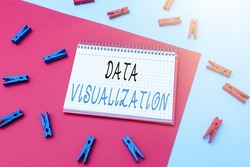 Inspiration showing sign Data Visualization. Business idea representation of information in the form of a chart Writing Important Notes Displaying Messages And Listing Items