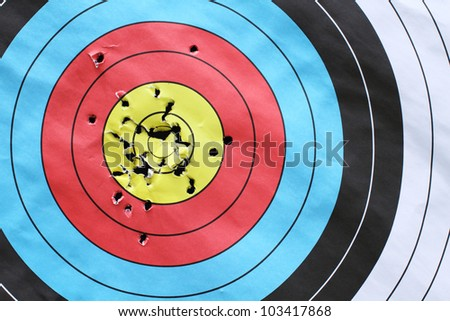 inspiration to successful with archery target.