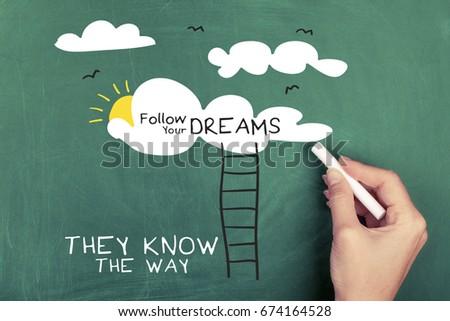 Inspirational motivation quote / Inspiration motivation concept image