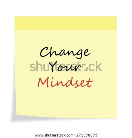 Inspirational Motivational Life Quote on  Background Design. Change Your Mindset.