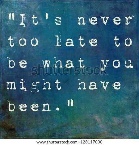 Inspirational quote by George Eliot on earthy blue background