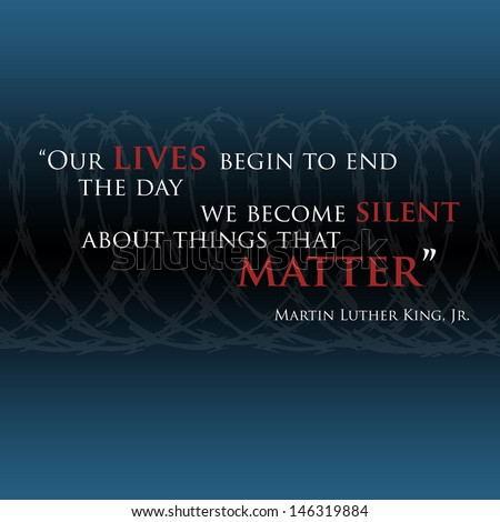 Inspirational quote by Martin Luther King Jr. related to life, love, religion and faith