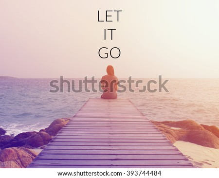 Inspirational quote on blurred background with vintage filter