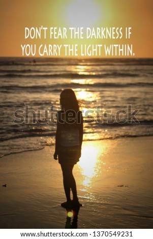 Inspirational Quote With Silhouette Sunset Background Images And