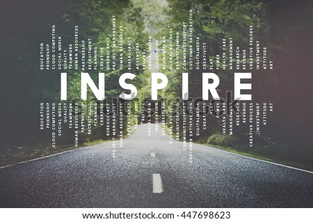 Inspire Inspiration Creative Motivate Imagination Concept #447698623