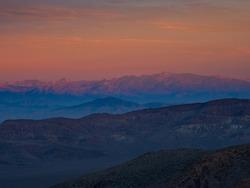 Inspiring landscape, Death Valley National Park. Sunset. California, USA