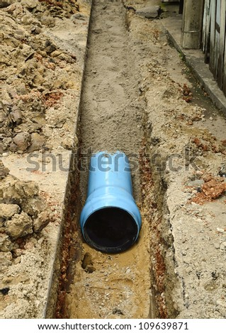 install new pvc pipe for domestic water supply