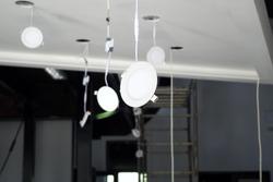 Installation Led lightings lamp of ceiling lighting