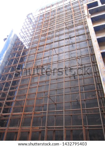 Installation of a power framework from steel fittings for the subsequent filling of concrete