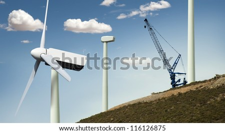 Installation of wind turbines