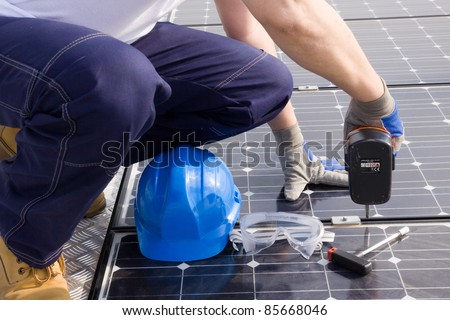 installing the photovoltaic panels