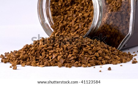 Instant coffee in glass bank-fragrant mixture