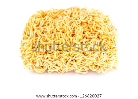 instant noodle in studio shoot with white background