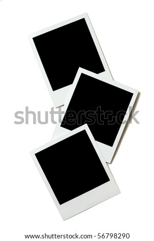 instant photo frame isolated