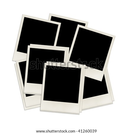 instant photo frames isolated on white