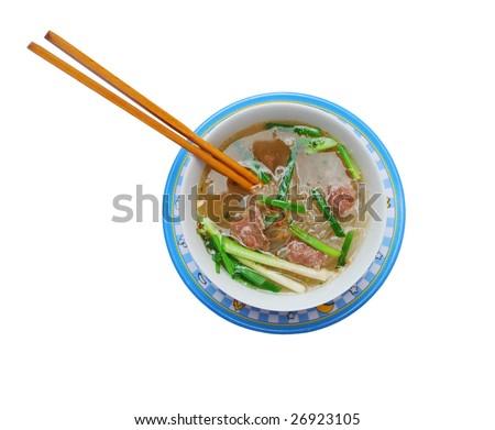 Instant rice noodle (Pho) bowl
