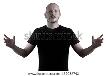Instructor over white background young casual