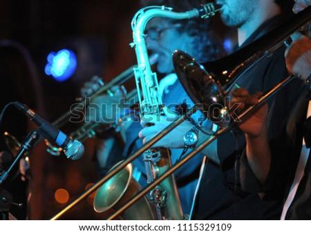 instrumentalists of a band Сток-фото ©