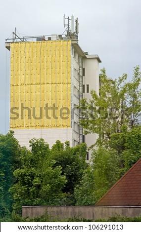 insulation cladding of a building facade