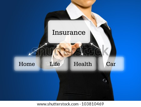 Insurance business concept