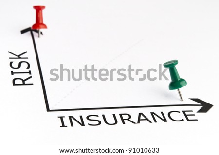 Insurance chart with green pin