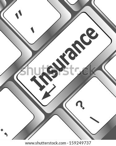 Insurance keyboard key in place of enter key, raster
