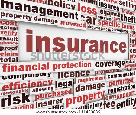 Insurance message concept. Risk management poster conceptual design